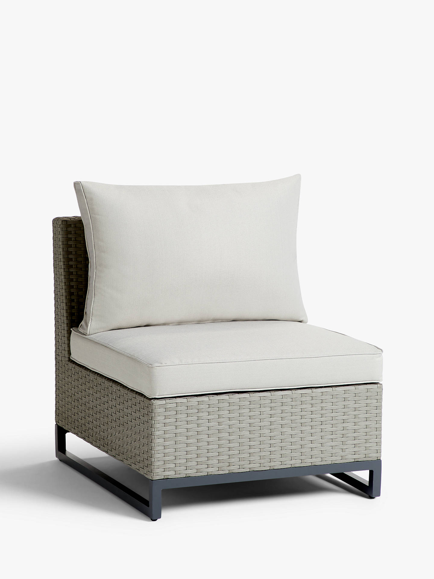 Buy John Lewis & Partners Valencia Garden Modular Middle Chair Unit, Light Grey Online at johnlewis.com