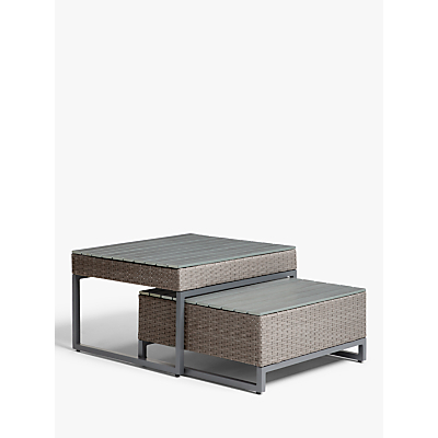 John Lewis & Partners Valencia Garden High Low Coffee Tables, Set of 2