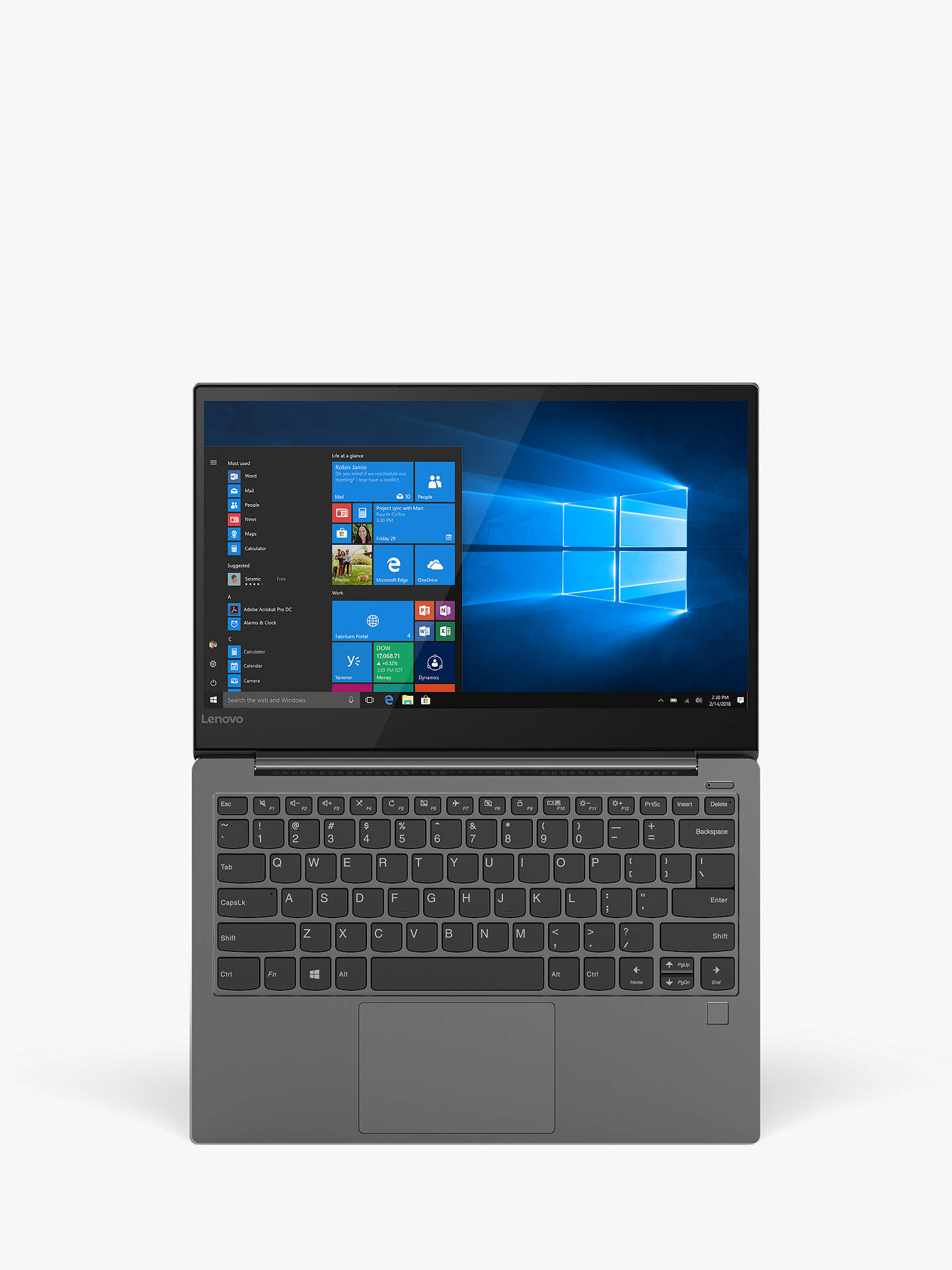 Lenovo Yoga S730 81j0000puk Laptop Intel Core I7 Processor 16gb Ram 256gb Ssd 13 3 Full Hd Iron Grey At John Lewis Partners