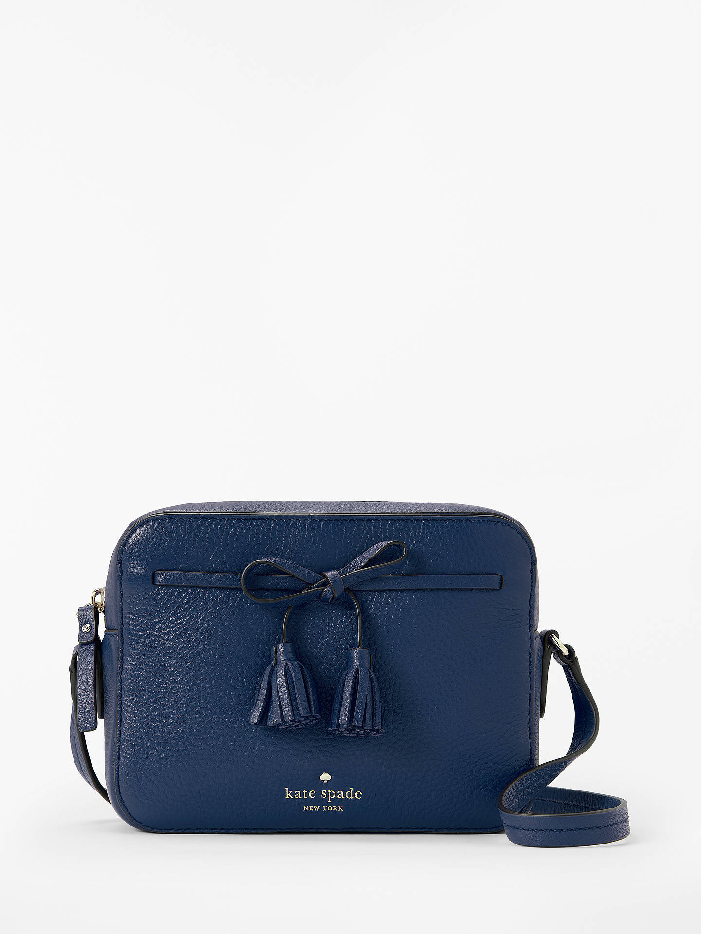 a3702d1c6a Buy kate spade new york Hayes Street Arla Leather Cross Body Bag, Blazer  Blue Online ...