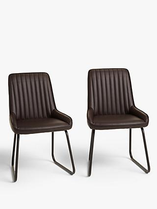 John Lewis & Partners Brooks Dining Side Chairs, Set of 2, Brown