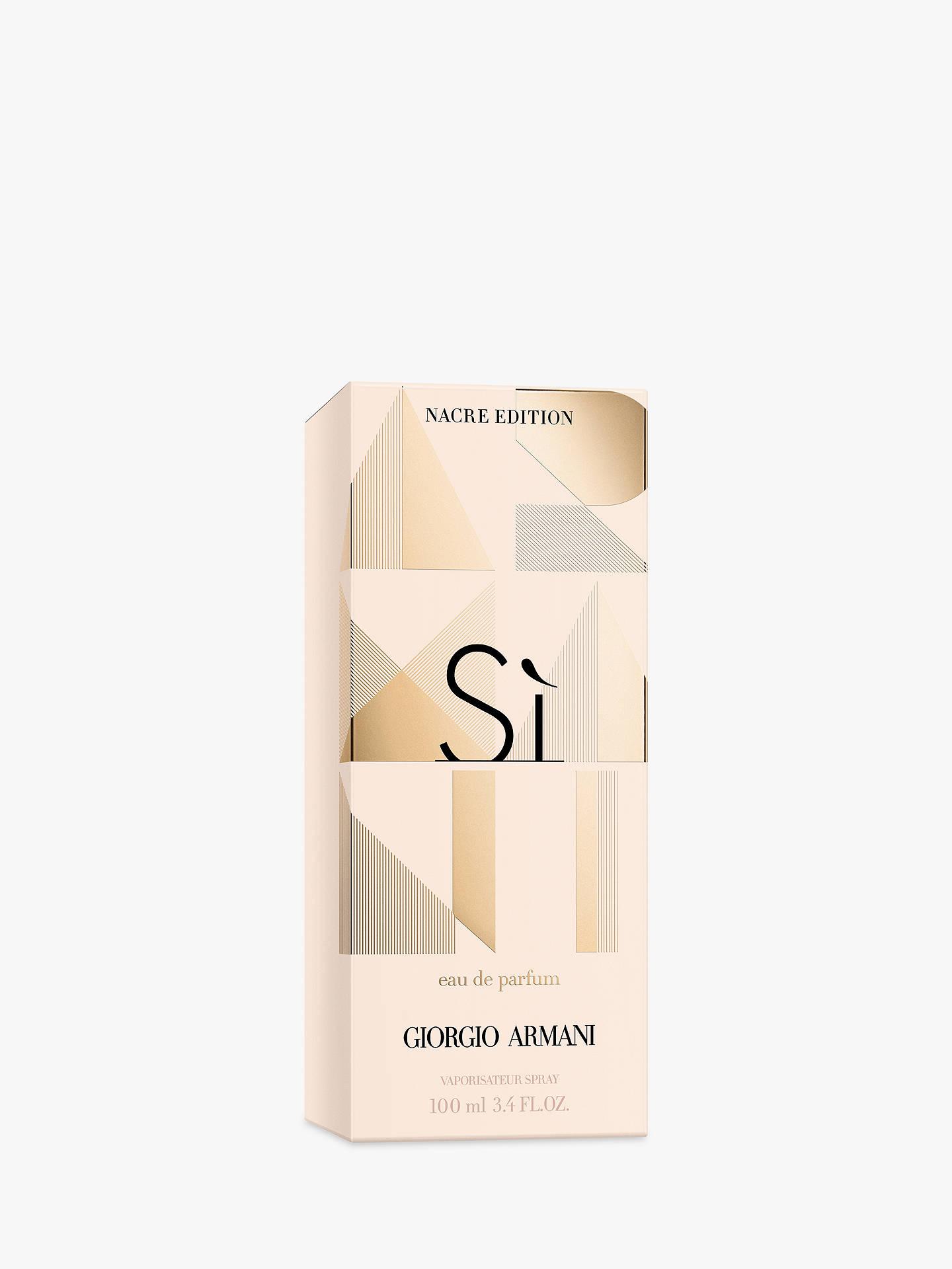 Giorgio Armani Sì Nacre Sparkling Limited Edition Eau De Parfum At