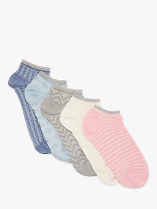 7b19dfb662f John Lewis   Partners Textured Trainer Socks