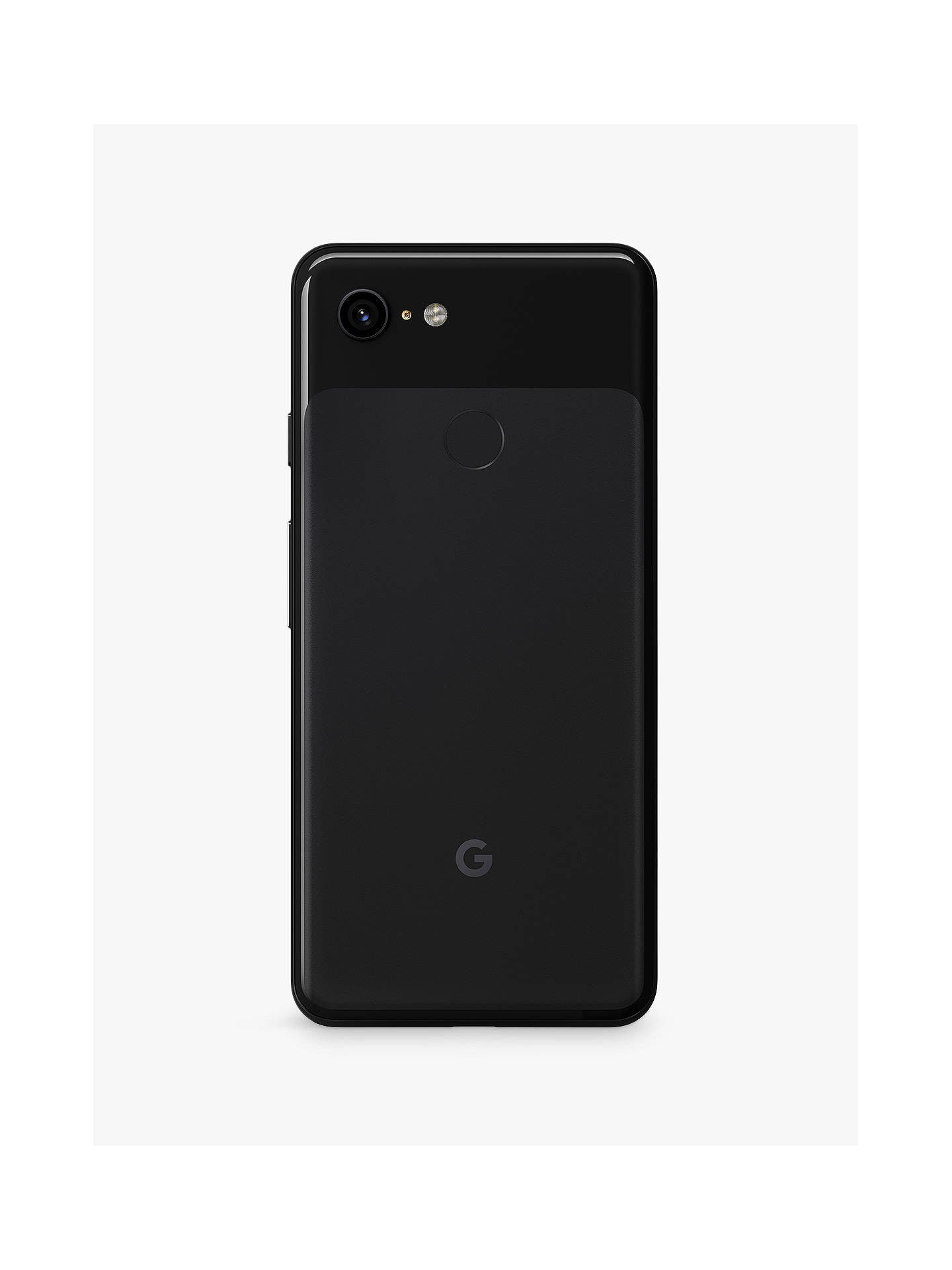 "Buy Google Pixel 3 Smartphone, Android, 5.5"", 4G LTE, SIM Free, 64GB, Just Black Online at johnlewis.com"