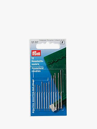 Prym Household Needles With Gold Eyes, Pack of 12