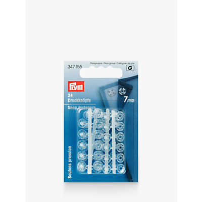 Image of Prym Sew-On Snap Fasteners, 7mm, Pack of 24