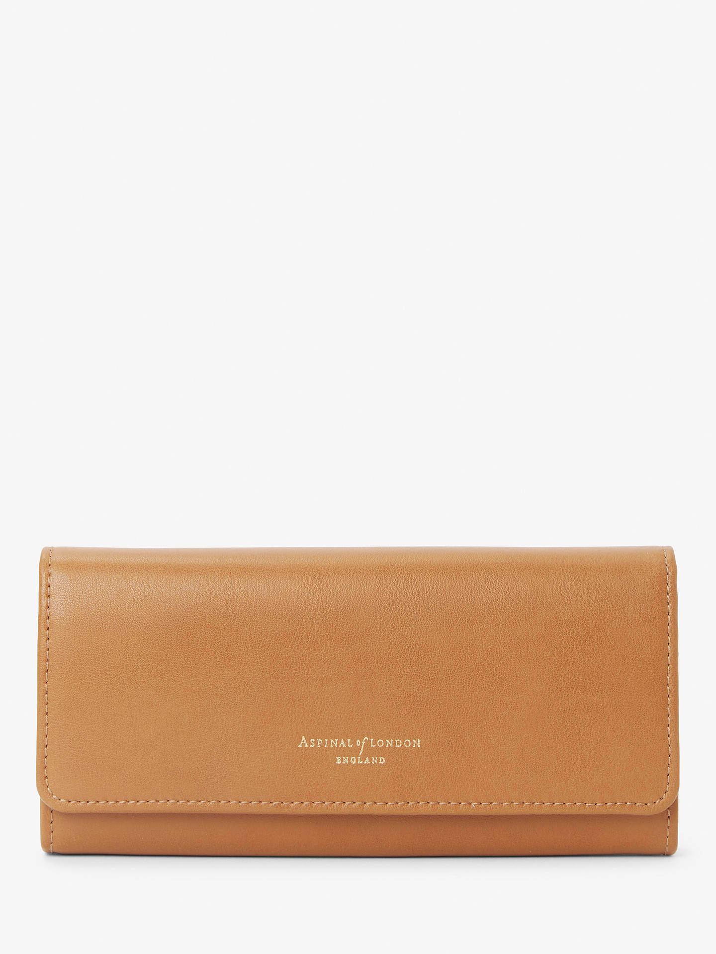 Aspinal of London Lottie Leather Purse, Smooth Tan