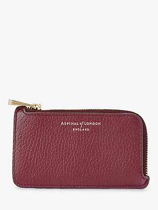 Aspinal of London Leather Zipped Coin Purse