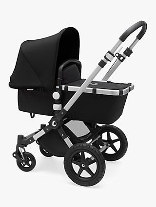 Bugaboo Cameleon3 Plus Complete Pushchair and Carrycot, Aluminium/Black with Black Sun Canopy