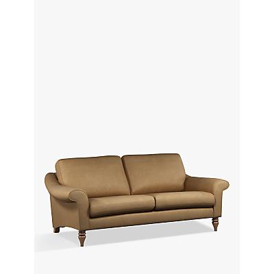 John Lewis & Partners Camber Large 3 Seater Leather Sofa, Dark Leg