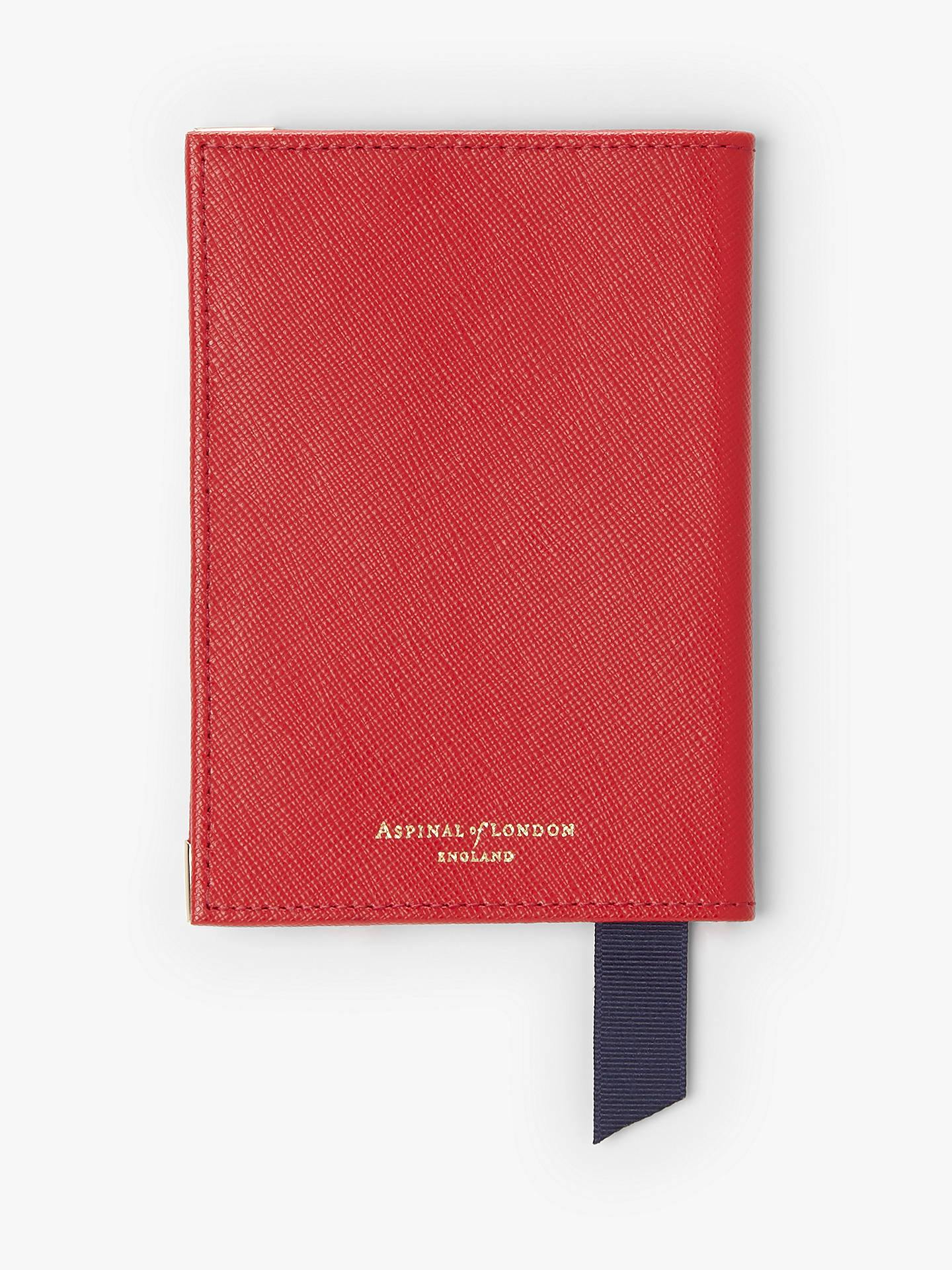 603eb12b38c1 Aspinal of London Leather Passport Cover, Scarlet