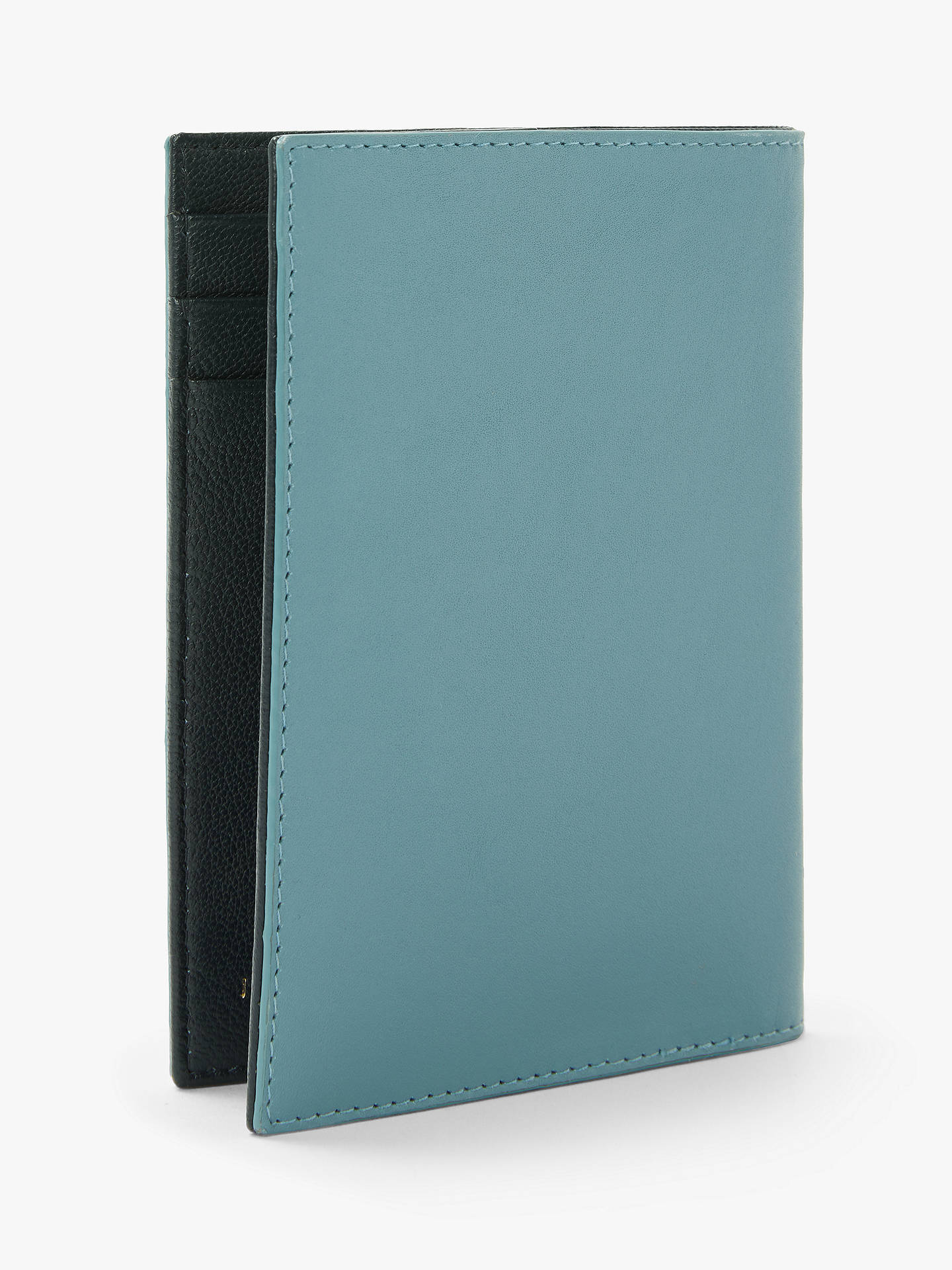 Buy John Lewis & Partners Ali Leather Passport Cover, Smoke Blue Online at johnlewis.com