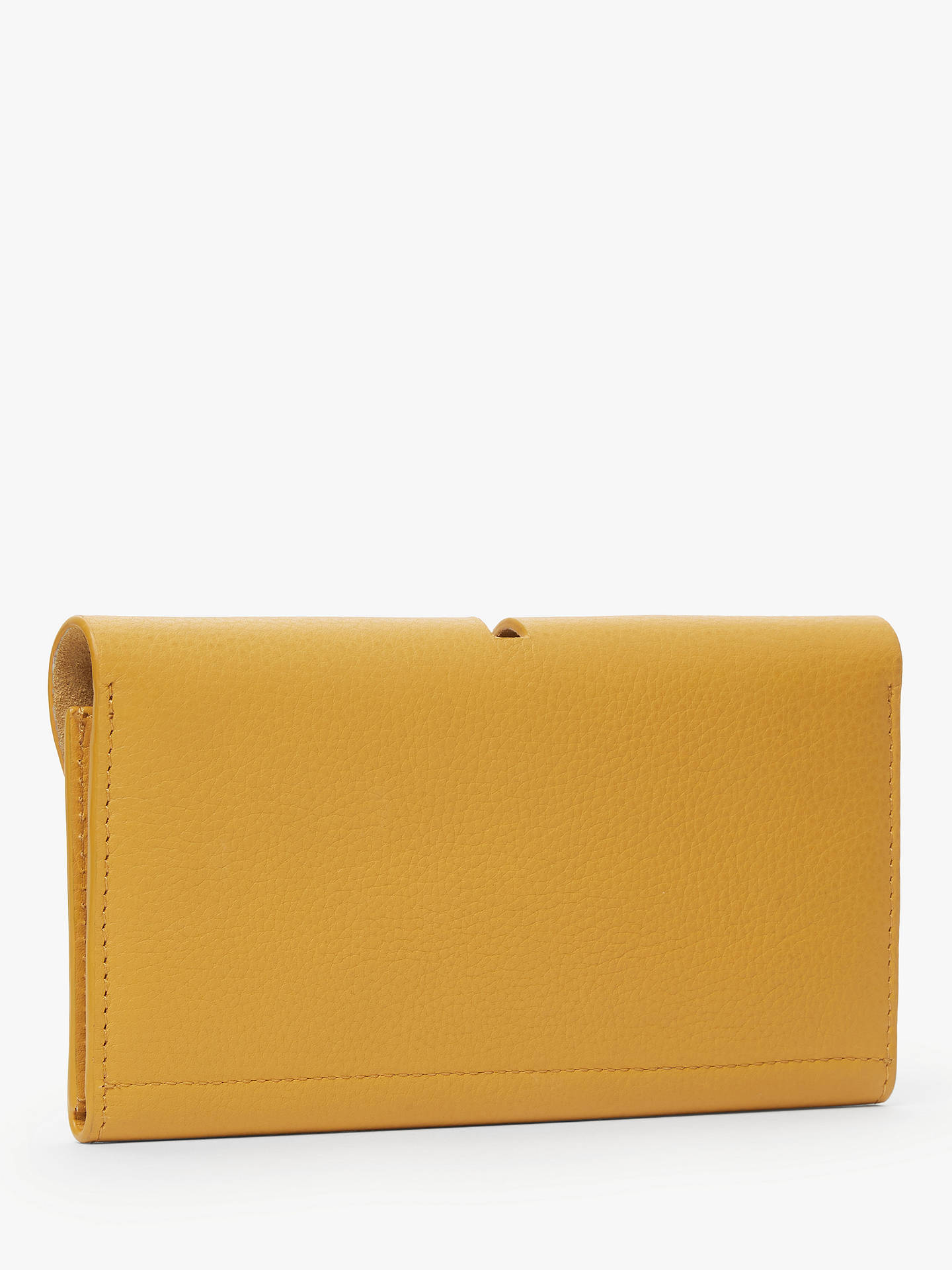 Buy John Lewis & Partners Ara Leather Foldover Purse, Amber Gold Online at johnlewis.com
