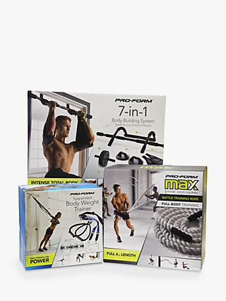 ProForm 7-in-1 Home Body Building Kit, Suspension Trainer & Battle Rope Set