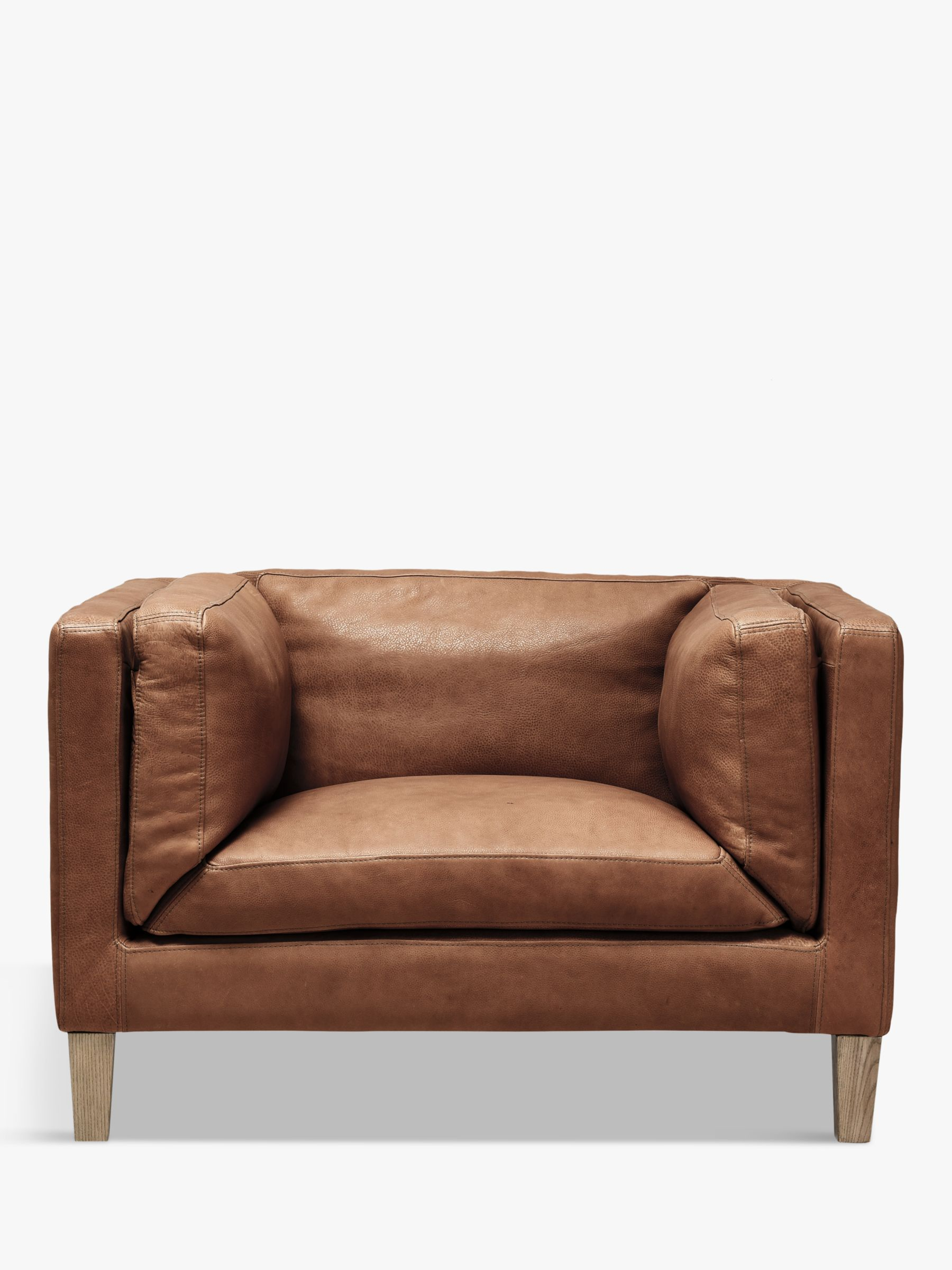 Halo Halo Spencer Leather Armchair, Natural Washed Camel