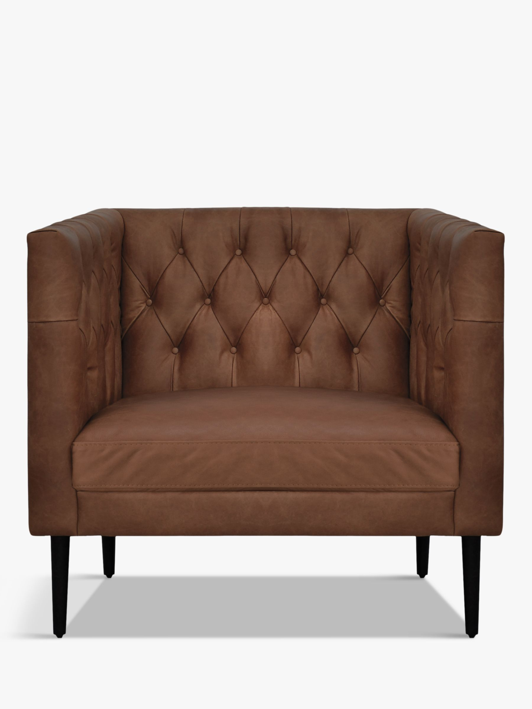 Halo Halo William Leather Armchair, Natural Washed Chocolate