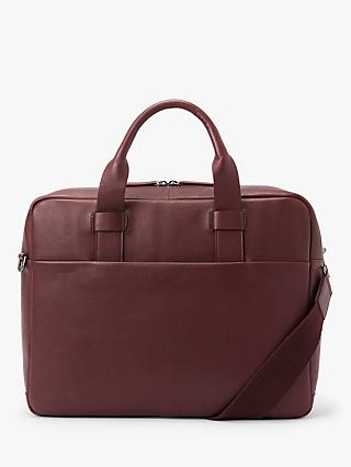John Lewis & Partners Oslo Leather Briefcase
