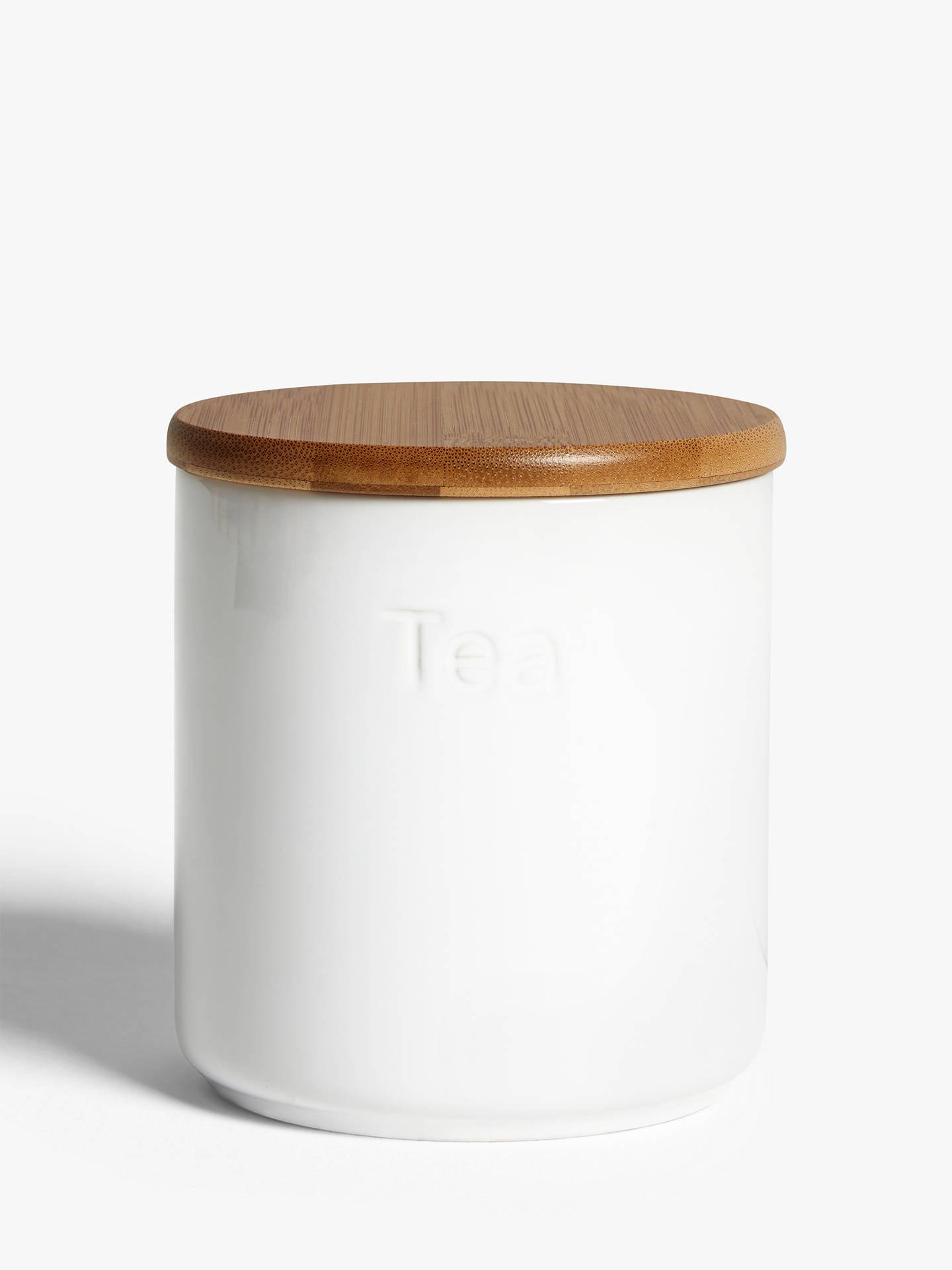 Excellent John Lewis Partners Ceramic Tea Storage Jar With Bamboo Lid White Inzonedesignstudio Interior Chair Design Inzonedesignstudiocom