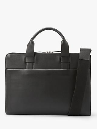 John Lewis & Partners Oslo Leather Slim Briefcase