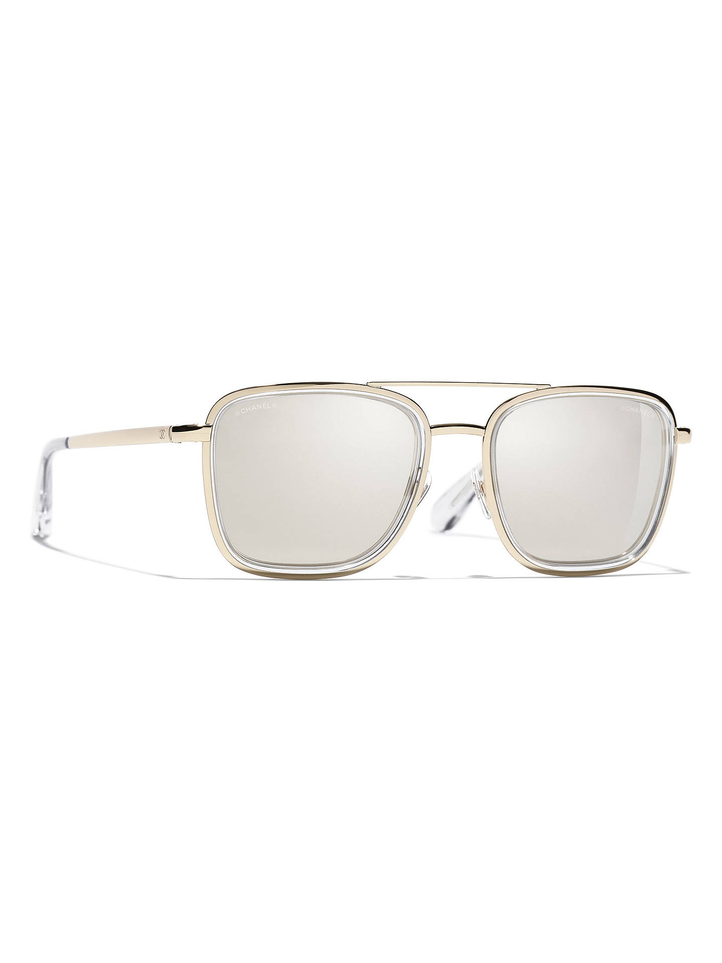 bab1154b0 Buy CHANEL Square Sunglasses CH4241 Light Gold/Mirror Gold Online at  johnlewis.com ...