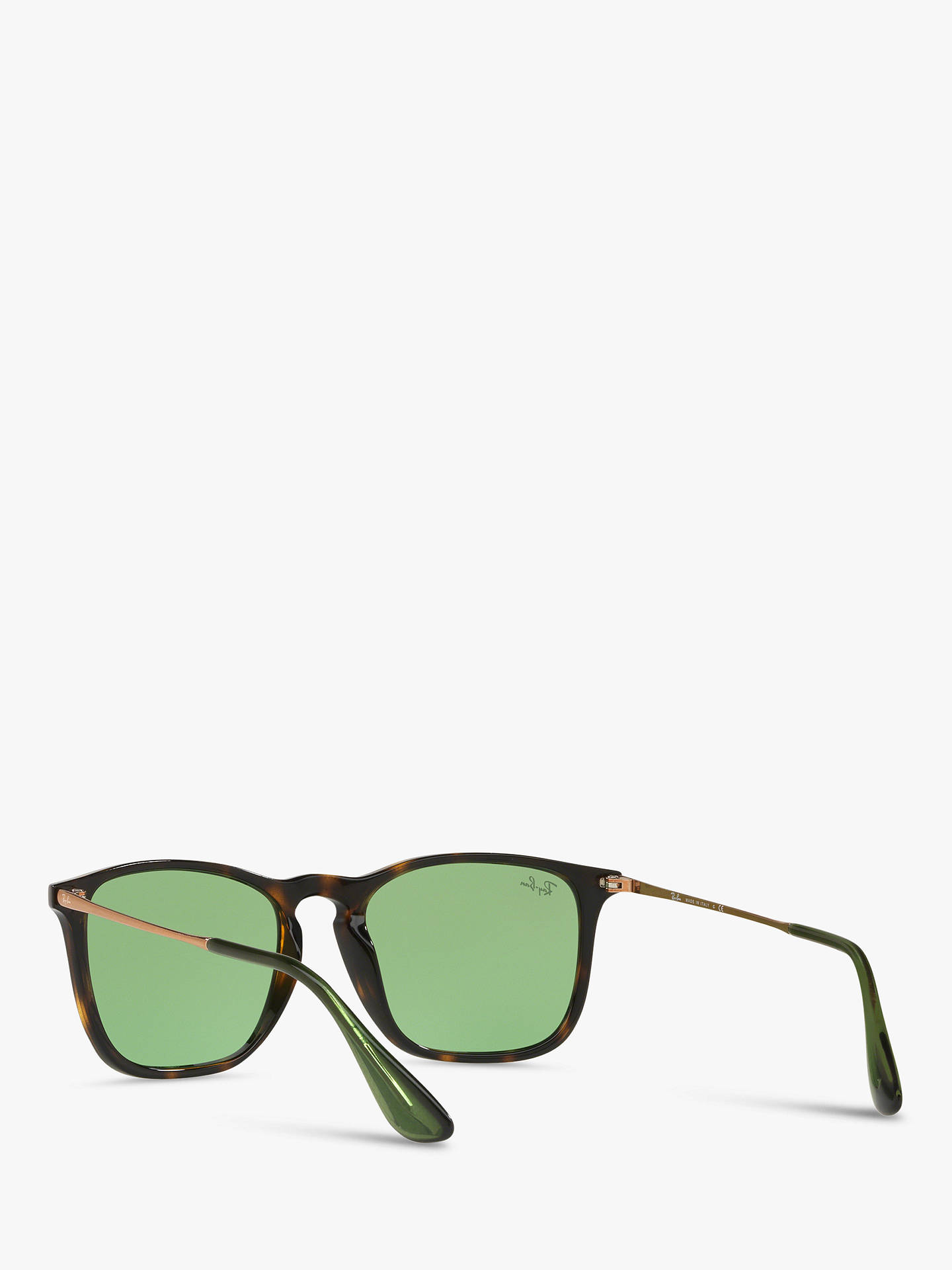 BuyRay-Ban RB4187 Men's Chris Square Sunglasses, Clear/Tan/Green Gradient Online at johnlewis.com