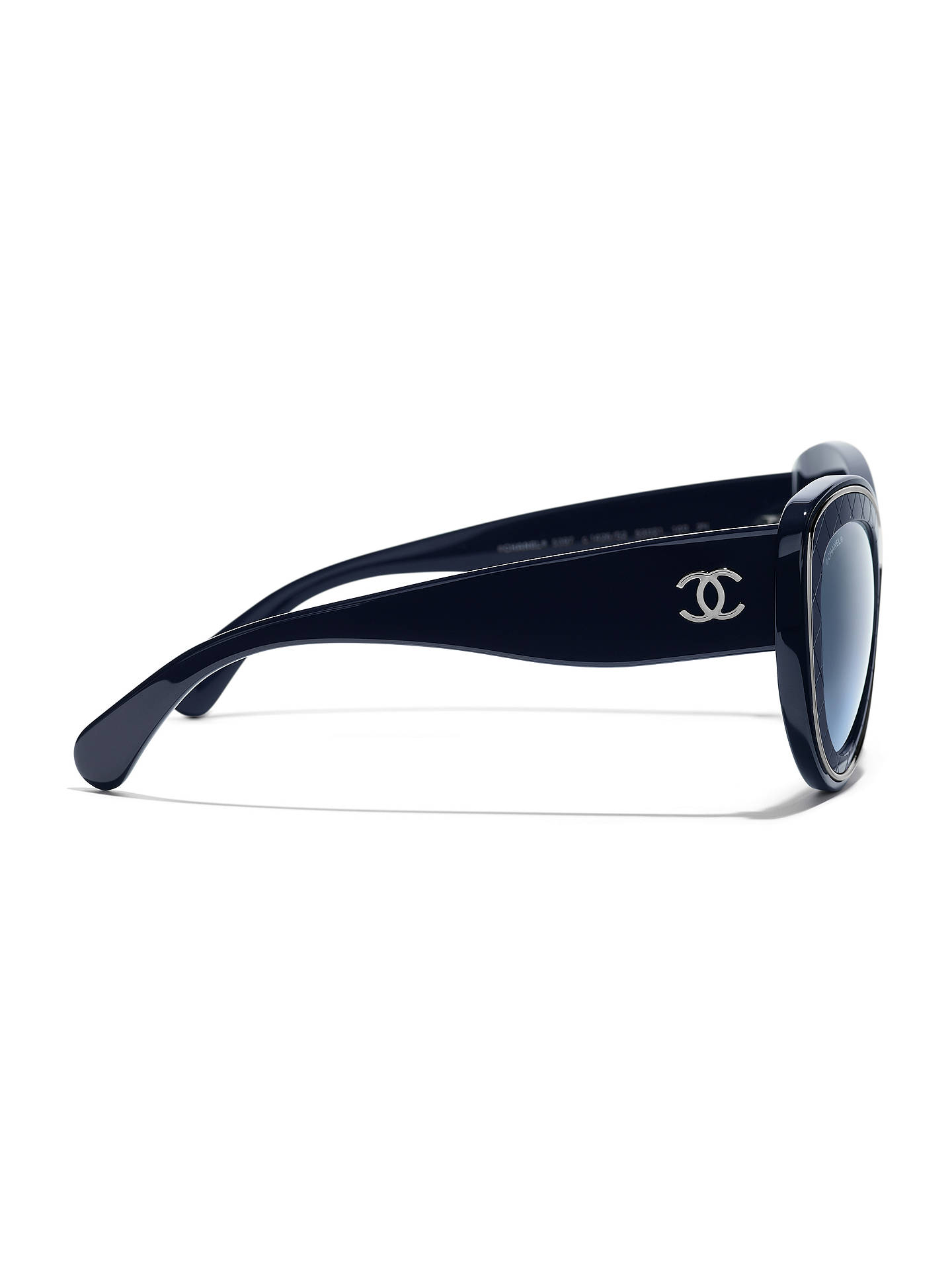 BuyCHANEL Butterfly Sunglasses CH5397 Navy/Blue Gradient Online at johnlewis.com