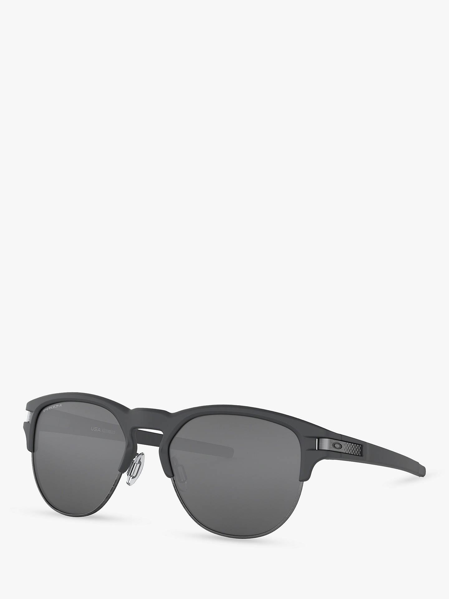 45e35cad02b8 Buy Oakley OO9394 Men's Latch Key Prizm Round Sunglasses, Matte Grey/Mirror  Black Online ...