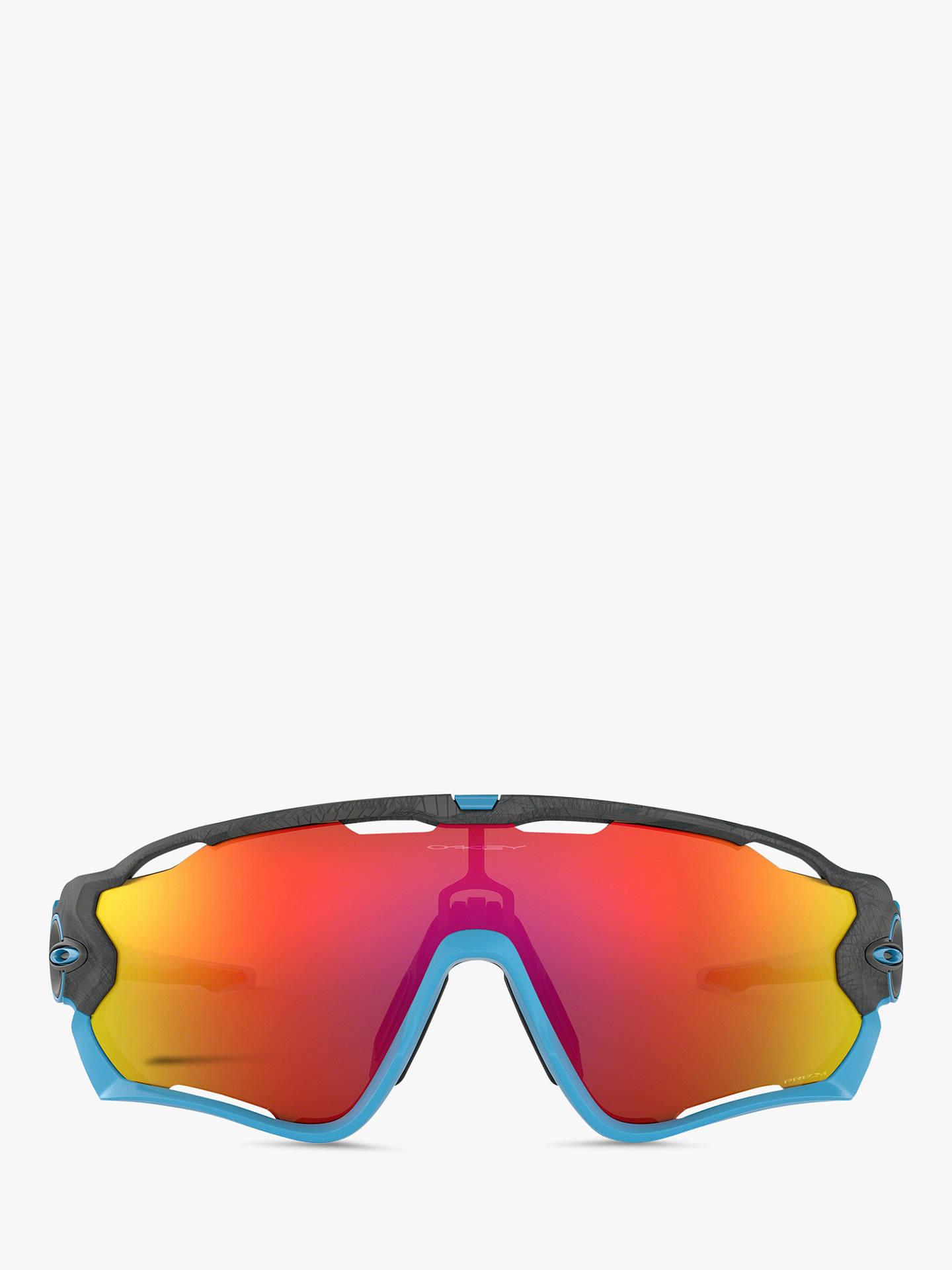 8ffb6f5b96 ... Buy Oakley OO9290 Men's Jawbreaker Prizm Rectangular Sunglasses, Grey  Blue/Mirror Red Online at ...