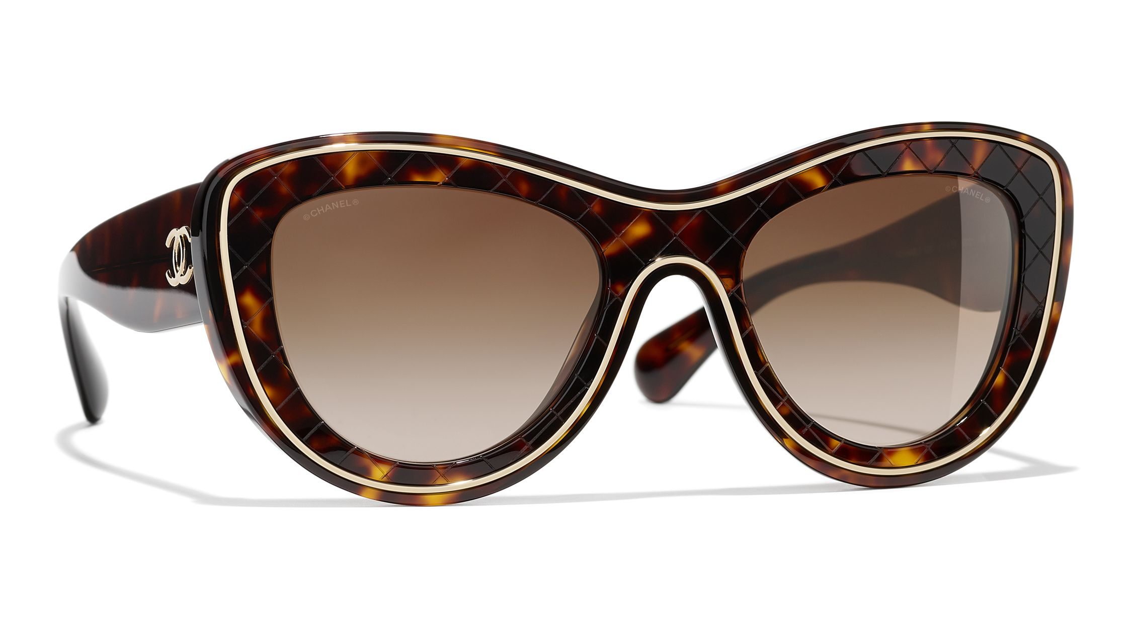 172f1399606ea CHANEL Butterfly Sunglasses CH5397 Havana Brown Gradient at John Lewis    Partners