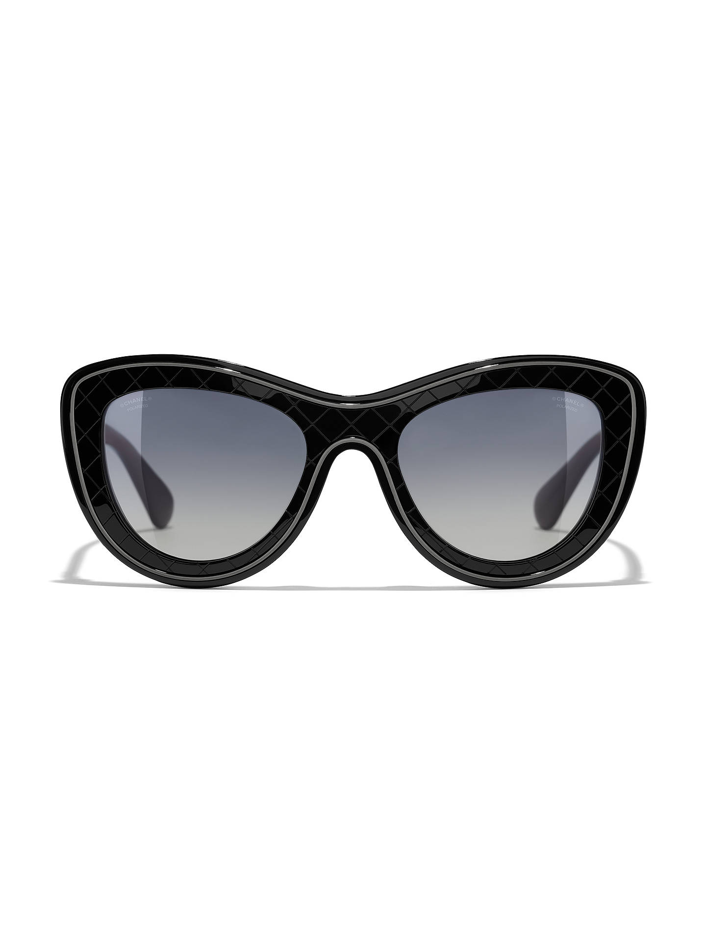 Buy CHANEL Butterfly Sunglasses CH5397 Black/Grey Gradient Online at johnlewis.com