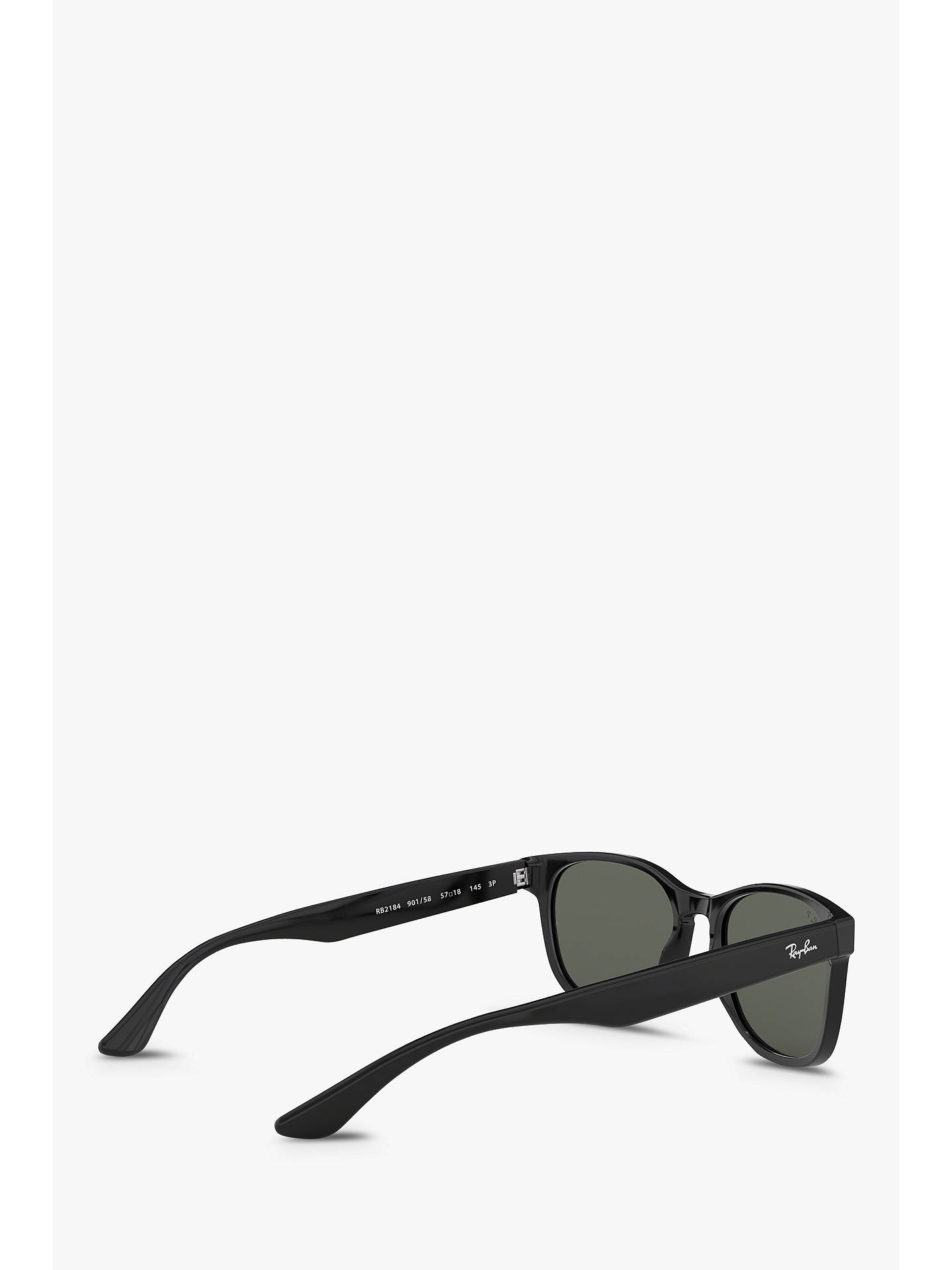 BuyRay-Ban RB2184 Women's Polarised Square Sunglasses, Black/Grey Online at johnlewis.com