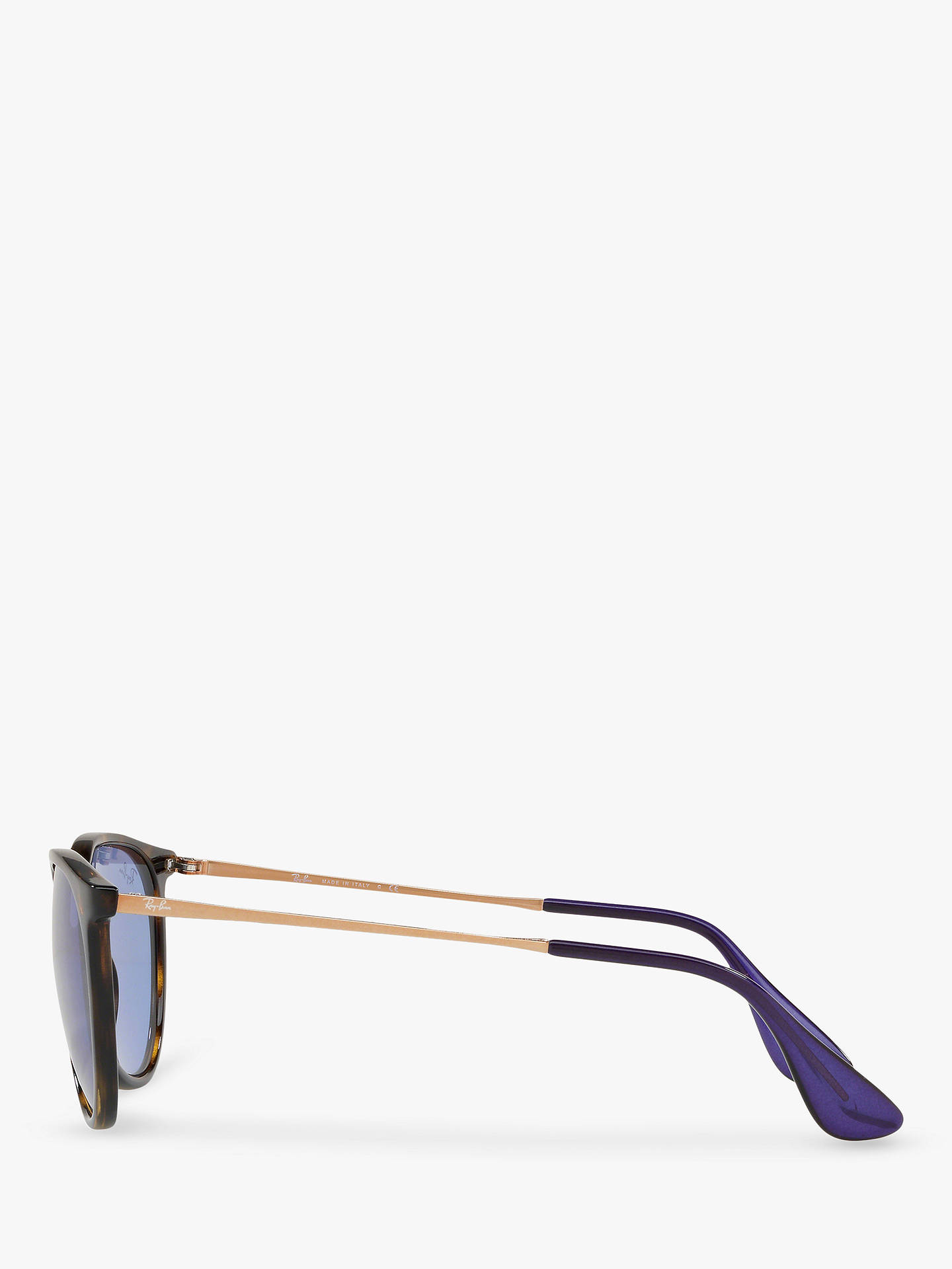 BuyRay-Ban RB4171 Women's Erika Rectangular Sunglasses, Gold/Black/Blue Gradient Online at johnlewis.com