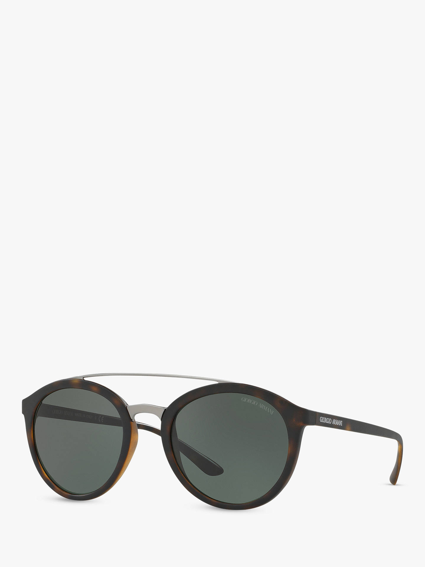 c7c663419d Giorgio Armani AR8083 Women's Round Sunglasses, Tortoise/Grey at ...