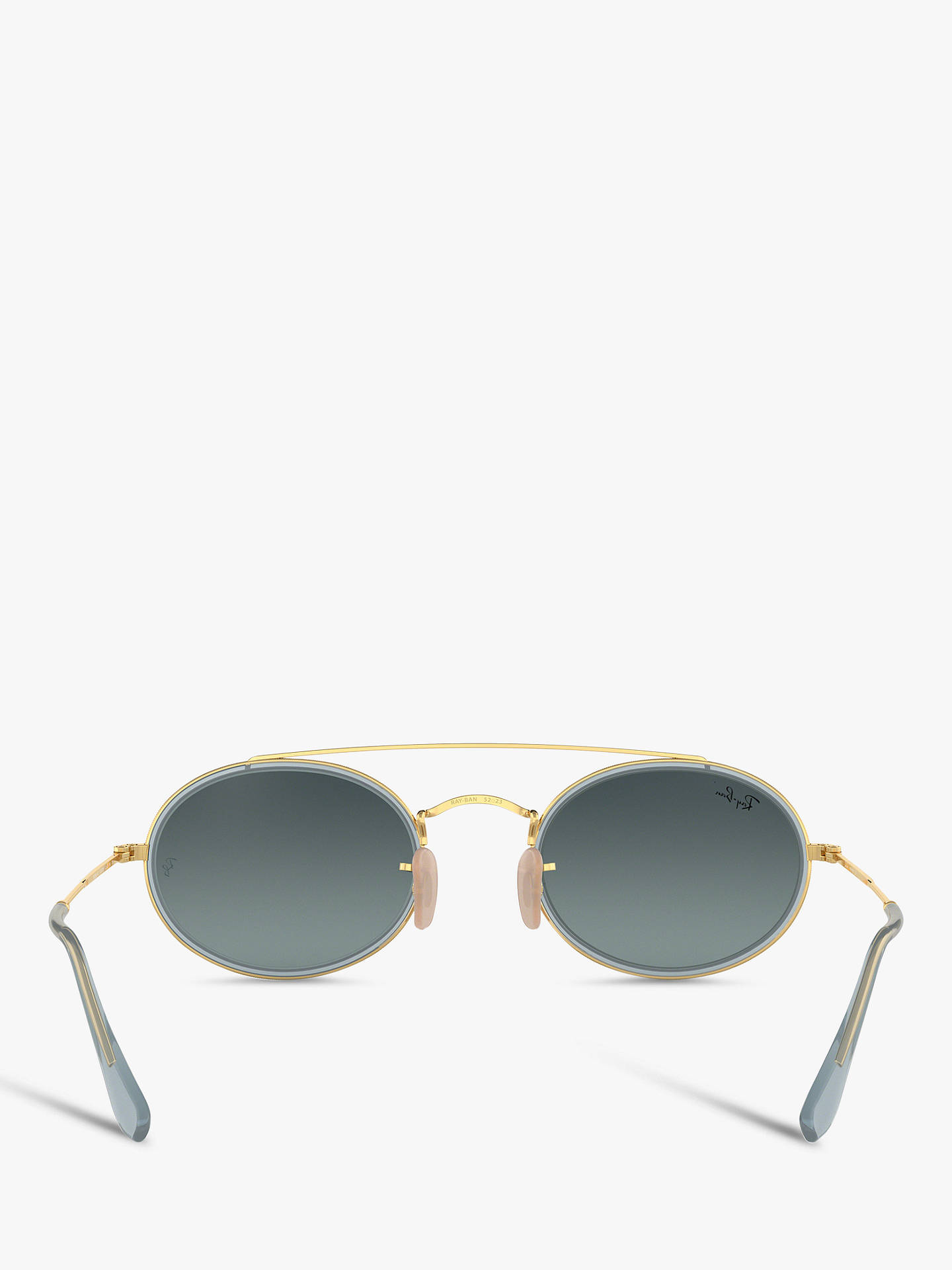 BuyRay-Ban RB3847N Women's Oval Sunglasses, Gold/Grey Blue Gradient Online at johnlewis.com