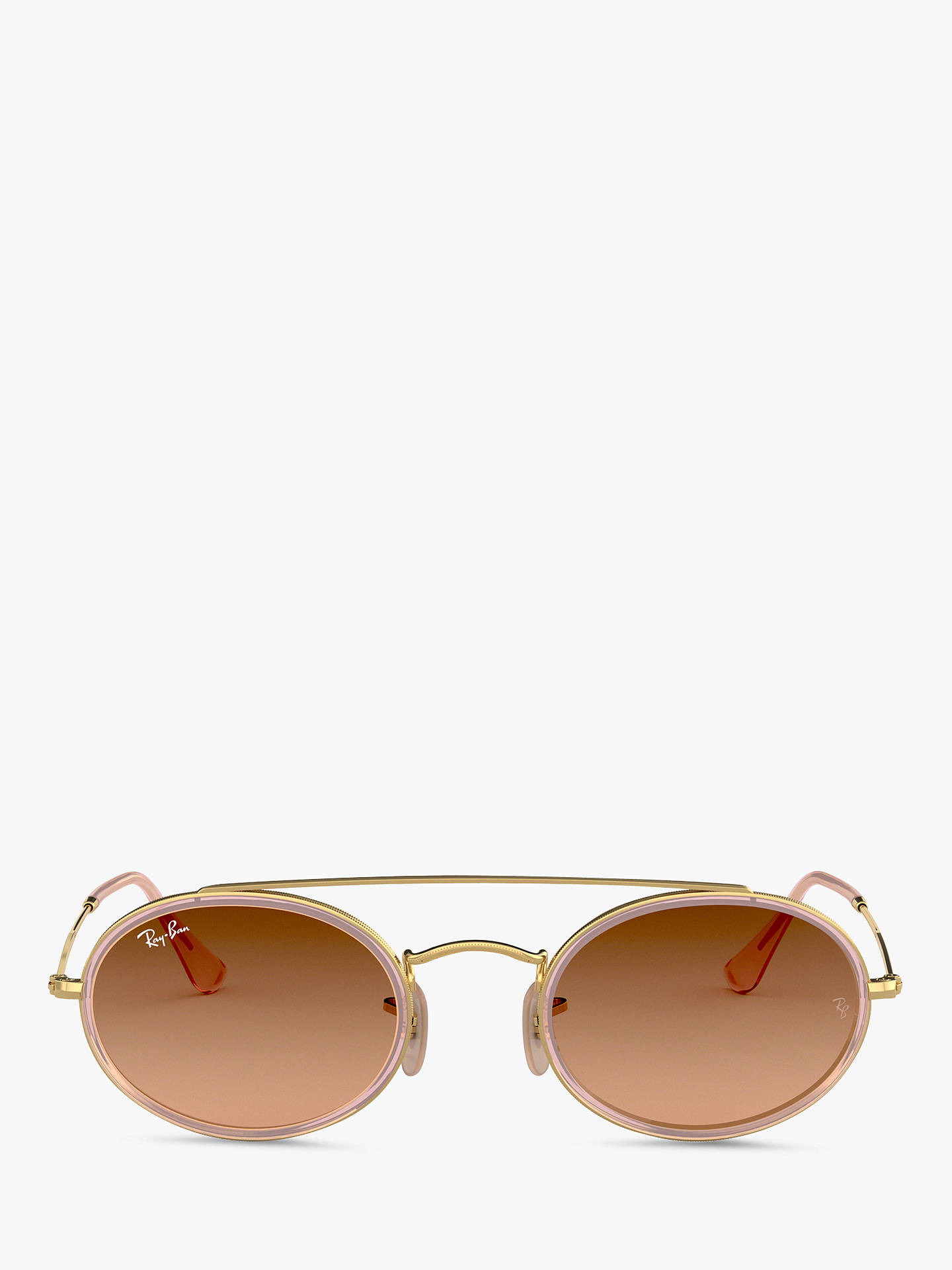 BuyRay-Ban RB3847N Women's Oval Sunglasses, Gold/Pink Gradient Online at johnlewis.com