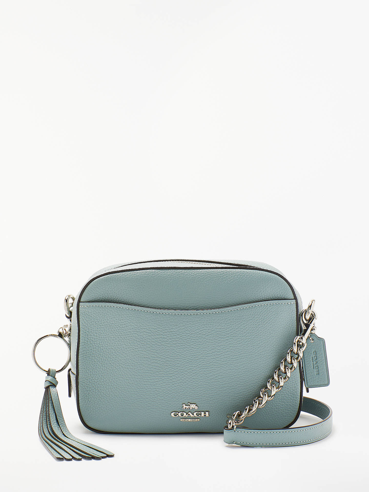 6a532319588 Buy Coach Leather Cross Body Camera Bag, Sage Online at johnlewis.com ...