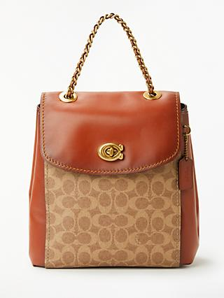 Coach Signature Parker Backpack Tan Rust
