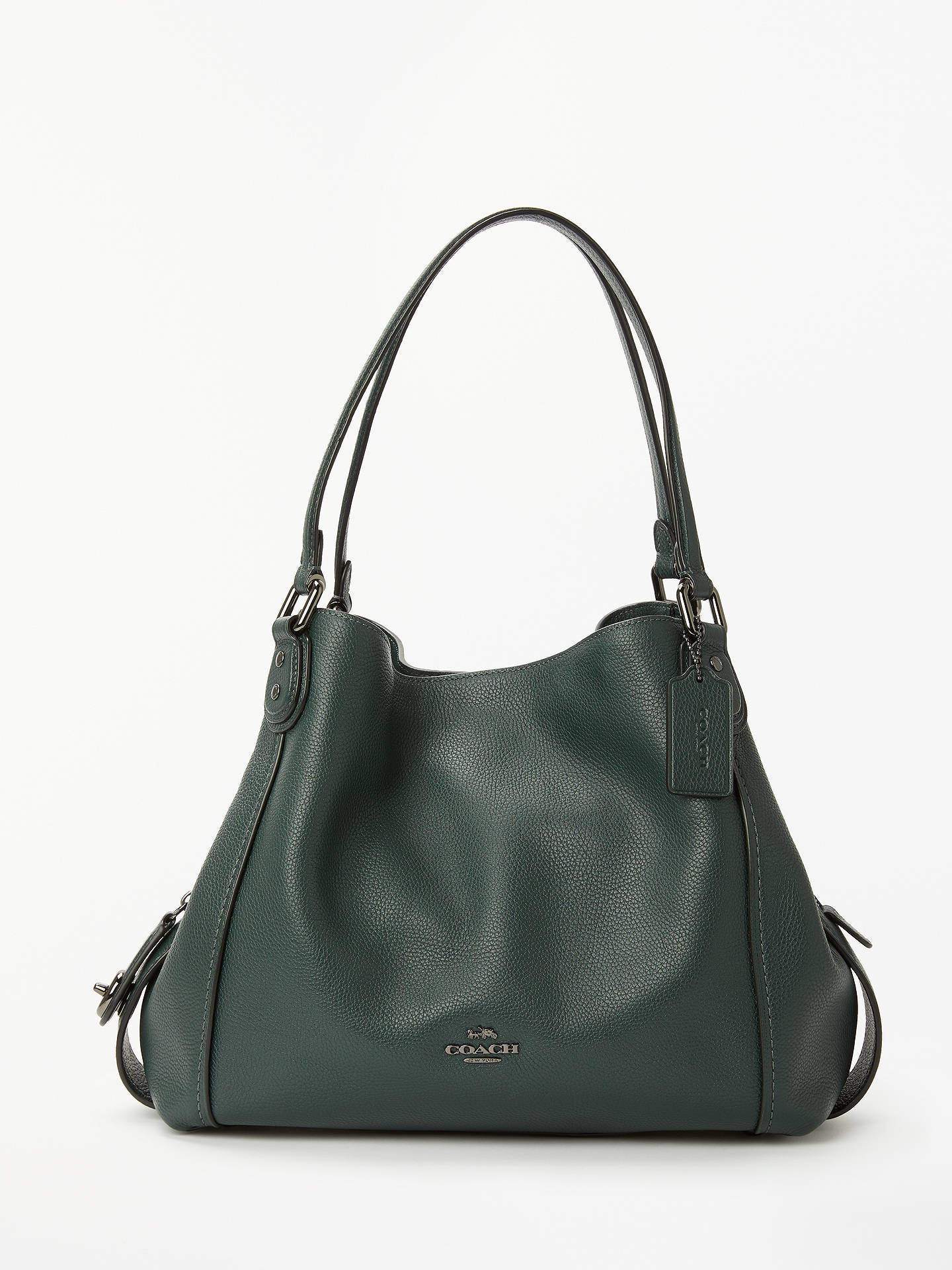 ... purchase buycoach edie 31 polished pebble leather shoulder bag cypress  online at johnlewis 65f92 0f3fe dedd158c28b79
