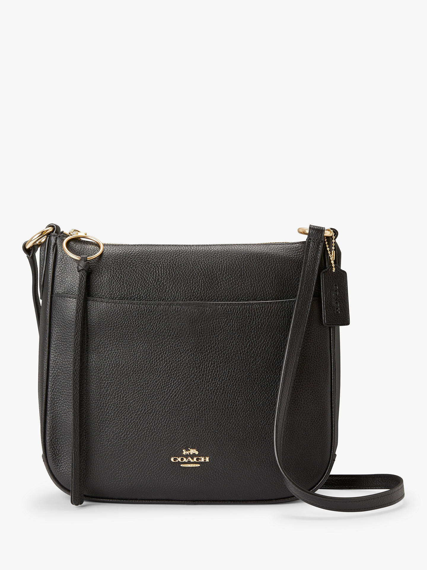 dbfdf4c3f99 Buy Coach Chaise Pebble Leather Cross Body Bag, Black Online at johnlewis.com  ...