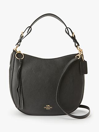 Coach Sutton Pebbled Leather Hobo Bag