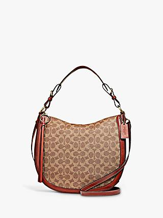 Coach Signature Sutton Hobo Bag, Tan Rust