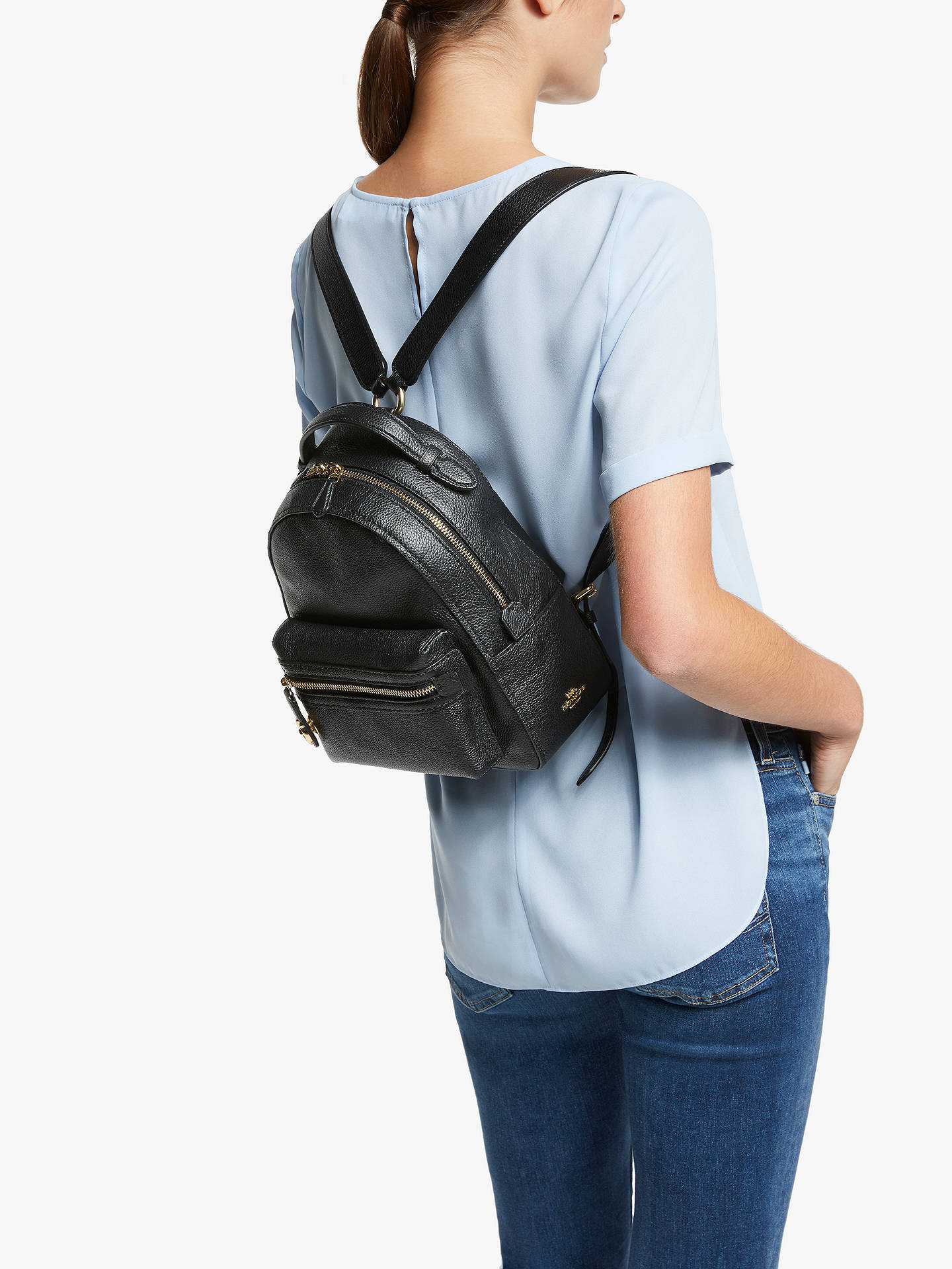 2ab5fc89f22f ... Buy Coach Campus 23 Pebble Leather Backpack