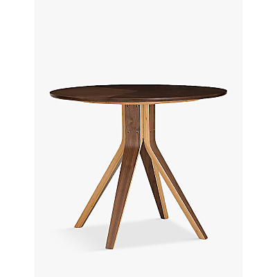 Image of House by John Lewis Radar 4 Seater Round Dining Table, Walnut