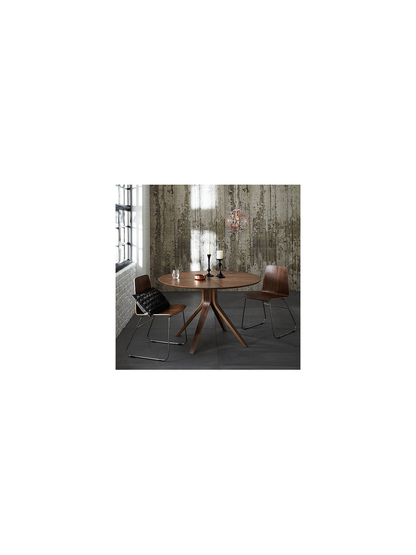 Buy House by John Lewis Radar 4 Seater Round Dining Table, Walnut Online at johnlewis.com