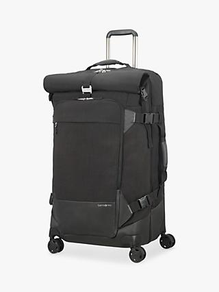 f64b7843107 Samsonite Ziproll Recycled 80cm 4-Wheel Duffle Bag, Black