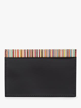 Paul Smith Stripe Cardholder, Black