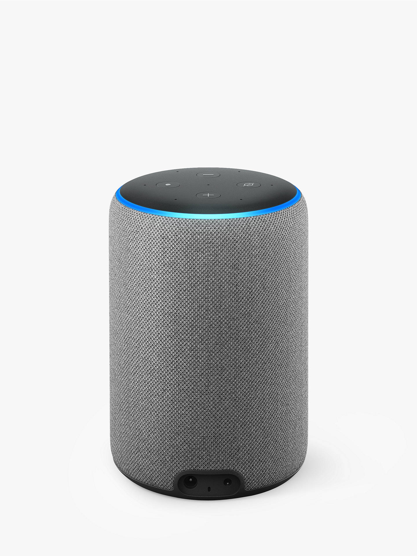 BuyAmazon Echo Plus Smart Speaker with Built-in Smart Home Hub with Alexa Voice Recognition & Control, 2nd Generation, Grey Online at johnlewis.com