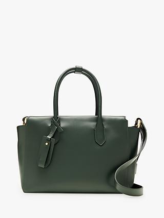 J Crew Cont Leather Cross Body Bag Green Emerald