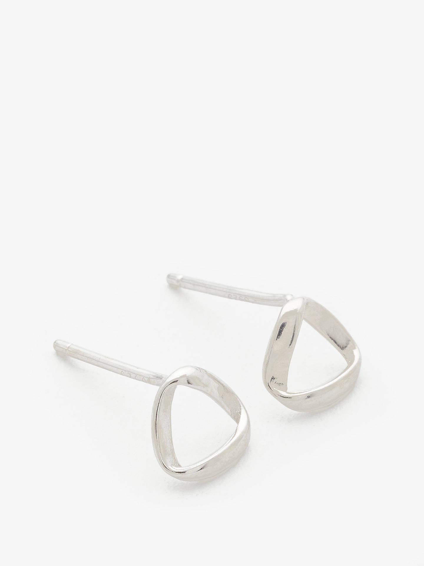 John Lewis Partners Triangular Stud Earrings Silver