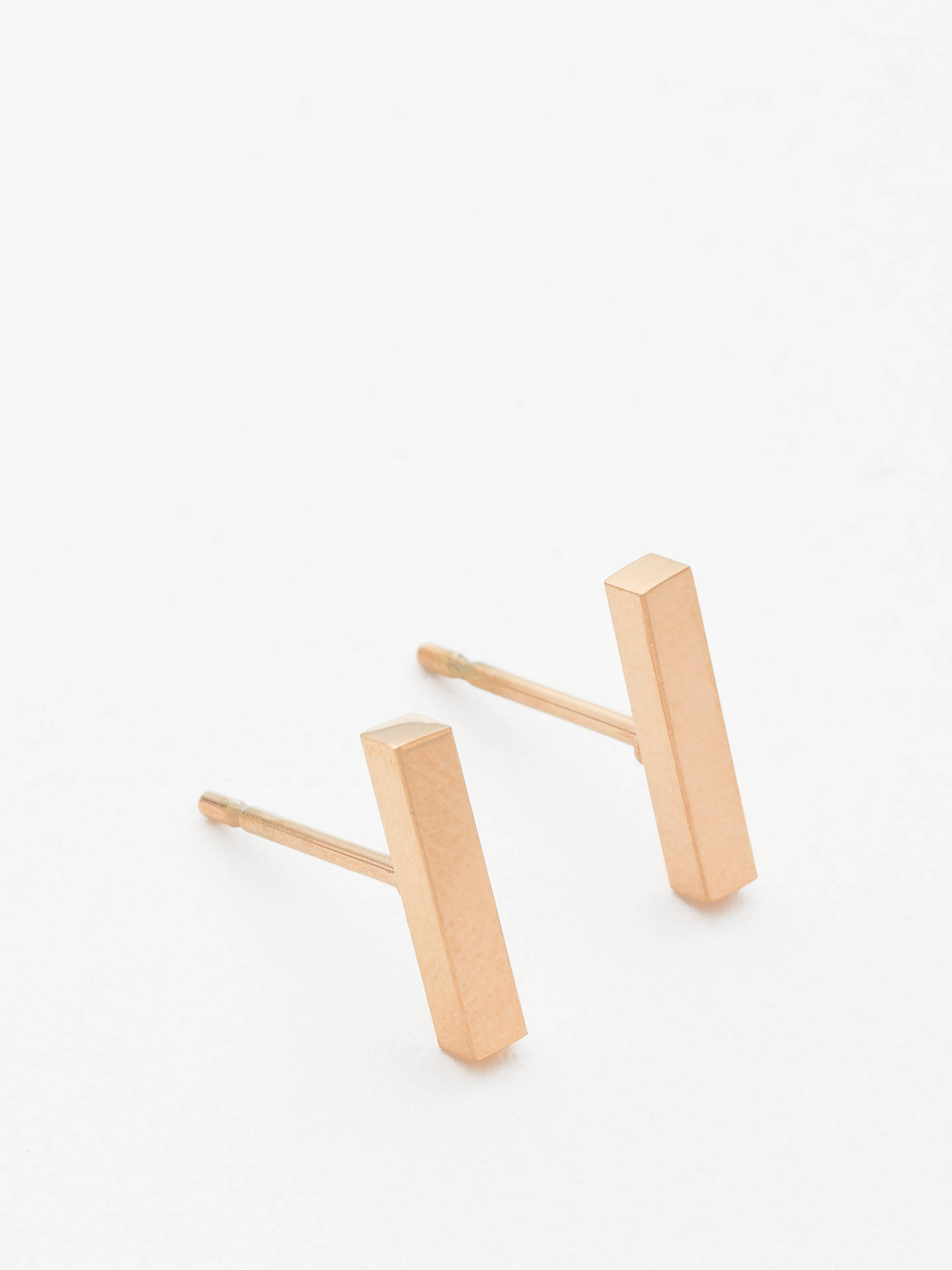 John Lewis & Partners Bar Stud Earrings, Gold by John Lewis &Amp; Partners